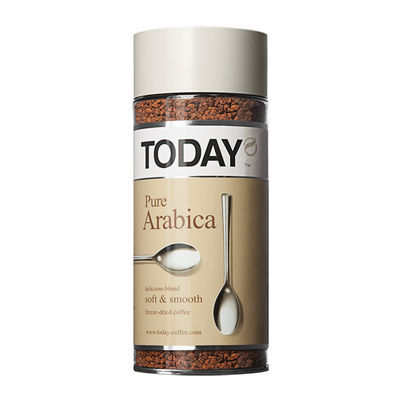Кофе Today PureArabica сублимированный 95-100г в стеклянной банке